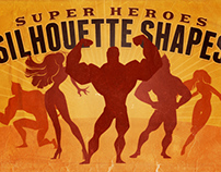 Silhouette Shapes - Super Heroes