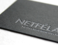 Silver on Black Letterpress Business Card