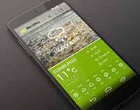 Met Office Android App Re-Design Concept