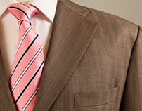 Brown TownCountry Suit Neapolitan Shoulder