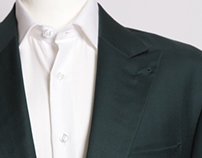 Racing Green Gabardine Suit