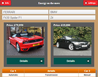 Android + web application Car Compare