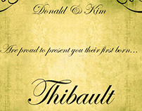 Birth Announcement Thibault