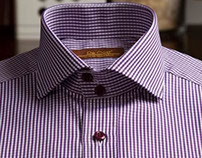Shirt with Full cut away collar with 2 buttons