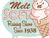 MELT 'N' DRIP Retro Ice Cream Design for Products