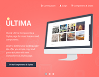 Ultima-Responsive HTML5 Landing Page