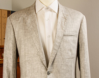 Unlined Sartorial Linen Jacket