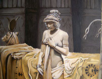 Paulina in the temple of Isis painting