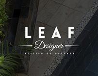 Leaf designer, site web, brand identity
