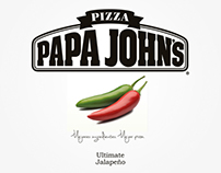 "Packaging Minimalista ""Papa John's Ultimate Jalapeño"""