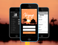 iOS7 Login Screen - Voyage