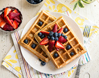 Berry Pineapple Waffles