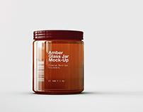 Amber Glass Jar | Apothecary Jar Mock-Up