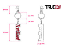 """True Blood"" keyrings"