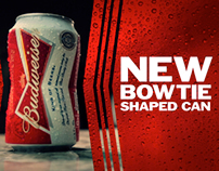 Budweiser Bow Tie Can