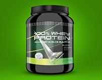 Levrone Protein Powder Label Design