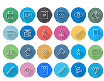 IOS8 Icons: Colorful Flat Icons - Line Icons Pack | SEO