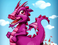 Little Dragon, from pencils to vector
