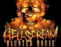 HellScream Haunted House Logo Design