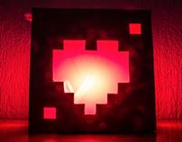 Pixel Hearts (Paper Lamp)