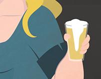 Cartaz promocional para Cervejoteca