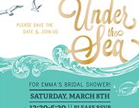 """Under the Sea"" Bridal Shower Invites"