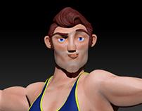 Athlete - 3D Modeling