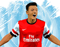 Mesut Özil Vector Illustration