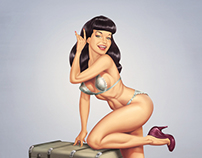 Bettie Page Pin Up.