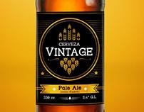 Etiqueta Cerveza Vintage