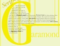 Garamond Typography Poster