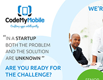 Codemymobile Hiring Poster Design