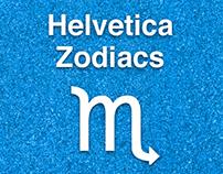 Helvetica Zodiac Signs