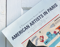 American Artists in Paris Exhibition Poster