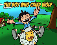 The Boy Who Cried Wolf - Children book illustrations