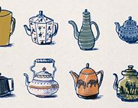 Teapots.