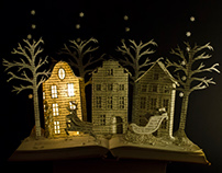 Christmas Book Sculpture - Book Arts
