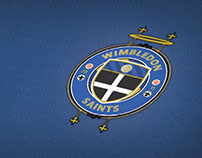 Wimbledon Saints FC - Badge and Kit Design