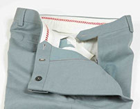 Duck Egg Blue Cotton Trouser