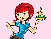 21 años