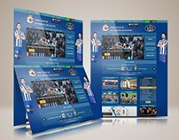 Layout Home Page Design For football Club