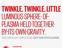 Toyota Genuine, Dealer Posters