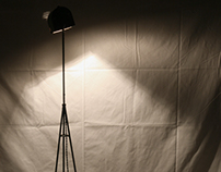 Iron floor lamp