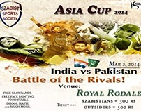 Live Screening of Asia Cup Match ( Pakistan vs India )