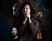 Eddie Vedder Photoshop Manipulation Piece