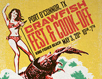 Crawfish Fest Poster - Port O'Connor, TX