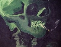 """""""Head of a skeleton with a burning cigarette"""" REREADING"""