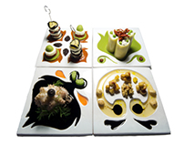 FOOD DESIGN FOR HAPPY LIVING - set di piatti