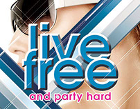 Live Free And Party Hard Flyer