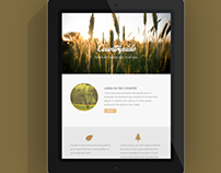 Free Countryside Email Template PSD